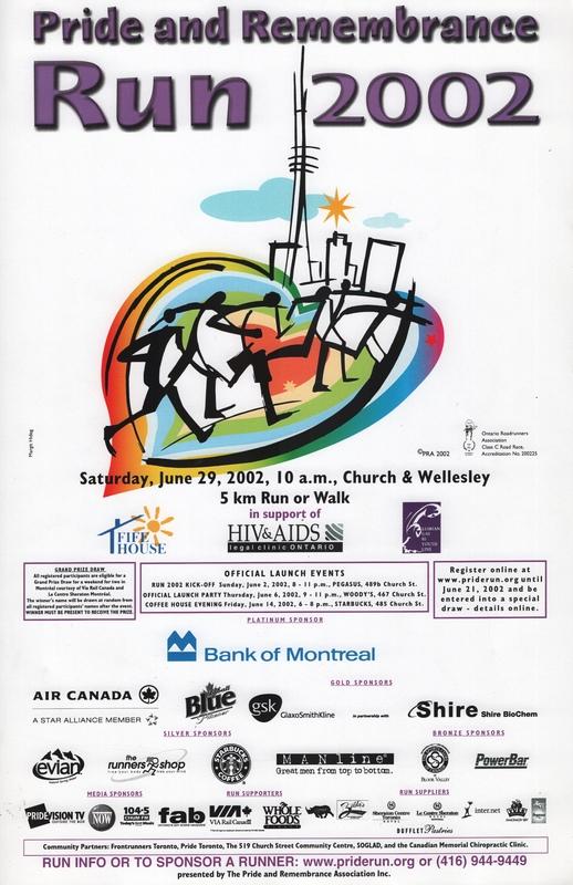 2002 Pride and Remembrance Run Poster