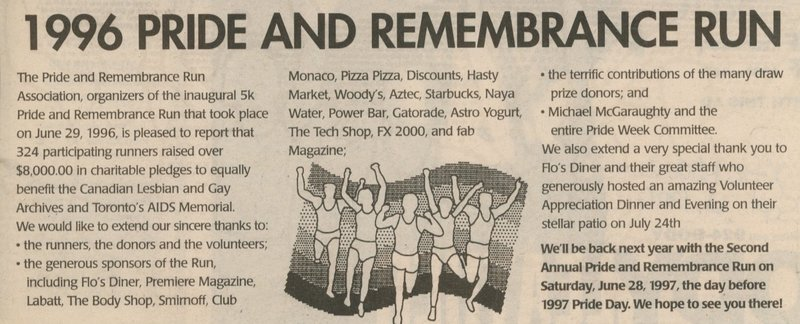 '1996 Pride and Remembrance Run' (Xtra)