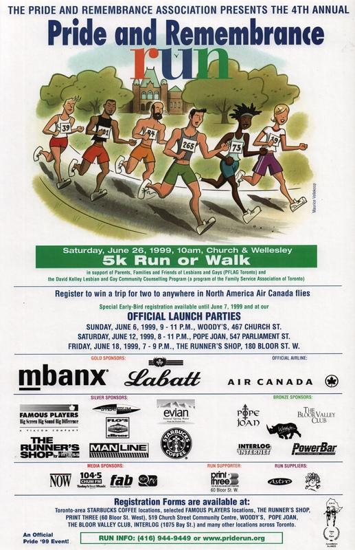 1999 Pride and Remembrance Run Poster