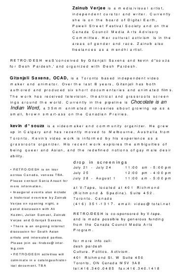 Retro/Desh Program Outline 1998
