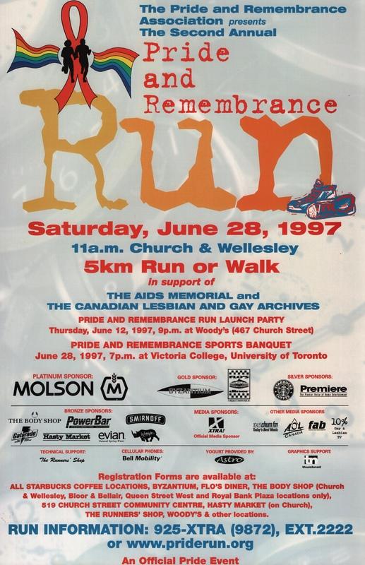 1997 Pride and Remembrance Run Poster