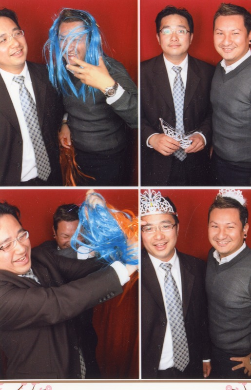 Hon Lu with his cousin, Shanobi Lam, at their cousin's wedding