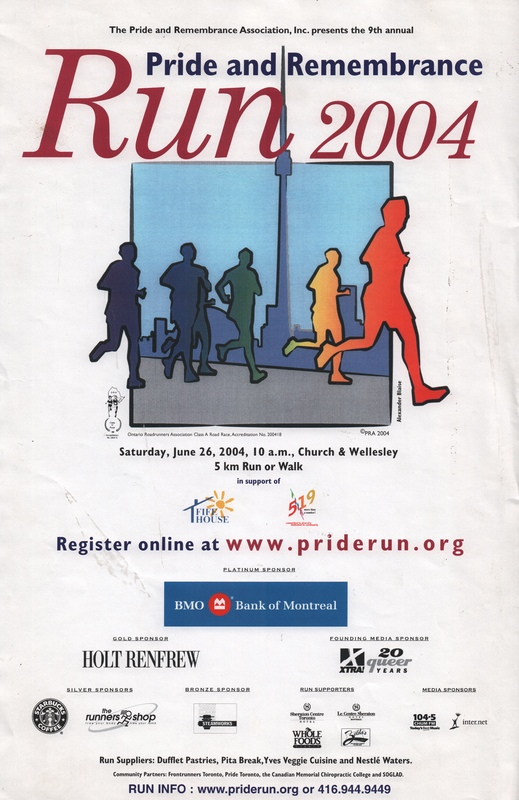 2004 Pride and Remembrance Run Poster