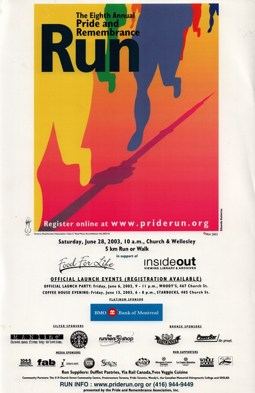 2003 Pride and Remembrance Run Poster