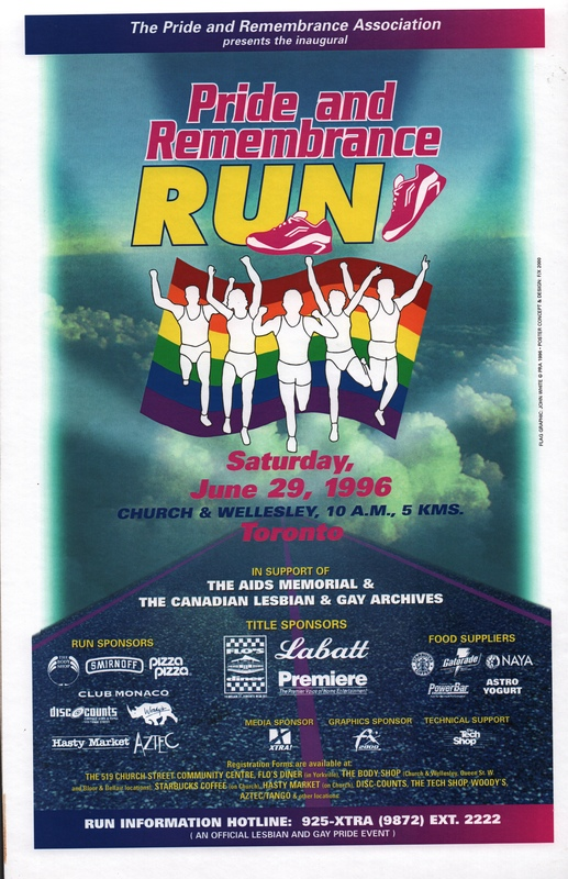 1996 Pride and Remembrance Run Poster