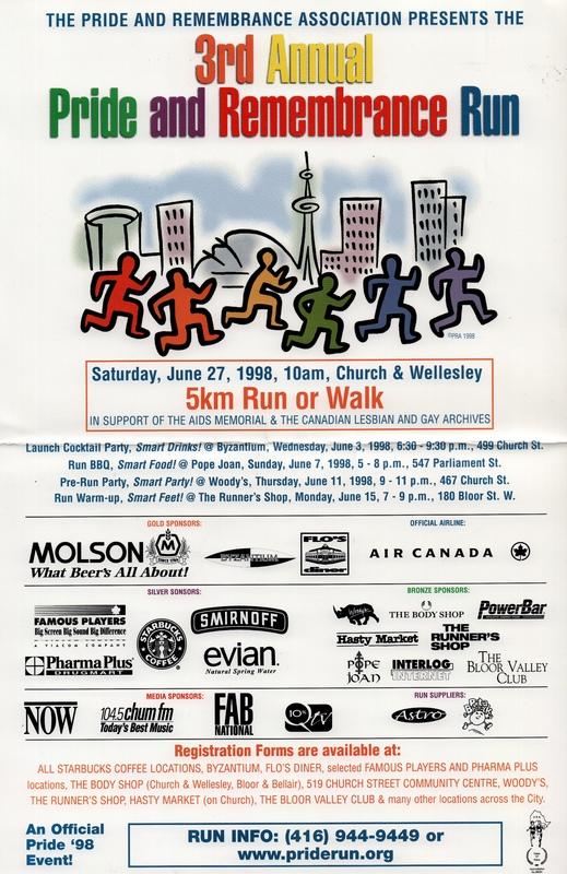 1998 Pride and Remembrance Run Poster
