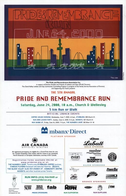 2000 Pride and Remembrance Run Poster