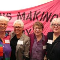 Amy Gottlieb, Didi Khayatt, Maureen FitzGerald, and Lynne Fernie at Lesbians Making History Launch.