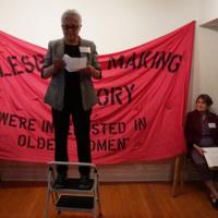 Didi Khayatt at Lesbians Making History Digital Collection launch.