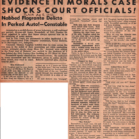 Evidence in morals case shocks court officials! Nabbed flagrante delicto in parked auto! - Constable<br />