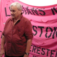 Eve Zaremba speaks at Lesbians Making History launch.