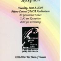 10th Anniversary & Youth Awards Reception invitation
