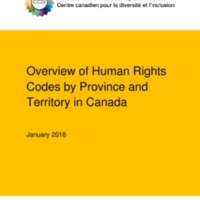 2018 Canadian Centre for Diversity and Inclusion - Overview of Human Rights Codes by Province and Territory in Canada.pdf