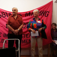 Eve Zaremba, Amy Gottlieb, Maureen FitzGerald, and Elspeth Brown at Lesbians Making History Launch