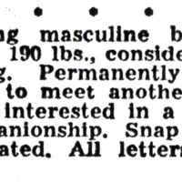 """Young masculine bachelor..."""