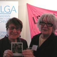 Maureen FitzGerald and Lynne Fernie at Lesbians Making History Launch
