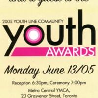2005 Youth Award invitation