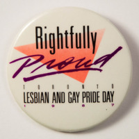 Rightfully Proud Lesbian and Gay Pride Day Toronto 1987