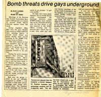 Bomb threats drive gays underground