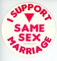 Same sex marriage sticker