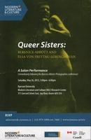Queer Sisters: Berenice Abbott and Elsa Von Freytag-Loringhoven