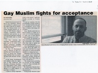 Gay Muslim fights for acceptance