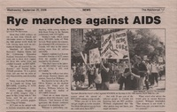 Rye marches against AIDS