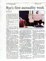 Rye's first asexuality week