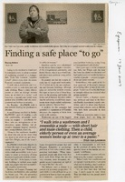"Finding a safe place ""to go"""