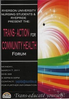 Trans-action for community health forum
